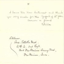 Image of Estella West to Margaret Louisa Irvine Riggs, June 3, 1943, p. 4