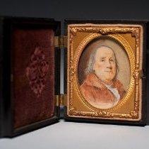 Image of Miniature Portrait of Benjamin Franklin, open