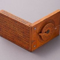 Image of Chinese Tablet Sundial, open, reverse