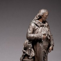 Image of Statuette of Benjamin Franklin, 3/4 view