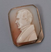 Image of Cameo Pin with Portrait of James Hall