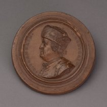 Image of Medallion with Portrait of Benjamin Franklin