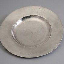 Image of Silver plate with Penn family crest