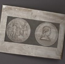 Image of Printing Plate with Benjamin Franklin Medal