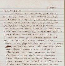 Image of Letter to Jim Banks Regarging the Kent State Shootings - 1997.2.1b