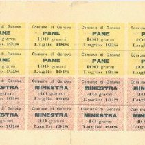 Image of Italian Food Ration Stamps for American Military