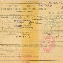 Image of French Transport Order - 2006.4.6