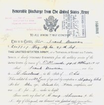 Image of Frank L. Bussian Discharge Paper Front