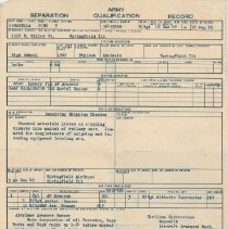 Image of Army Separation Qualification Record