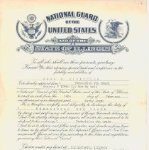 Image of Cert. of National Guard Appointment - 2012.1.26