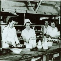 Image of Pvt. Olive Schilder, Mary Moore, Marie Pietsch and Pvt. Maria Klement, 1944 - 2012.23.67