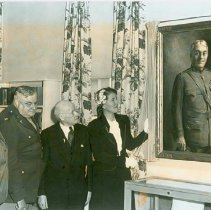 Image of Margaret Crile Garretson unveiling a portrait of her father,Dr. Crile, 1945 - 2012.23.73