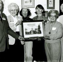 Image of Painting of the Crile Chapel by Ruth Patrick (second from left) - 2012.23.76