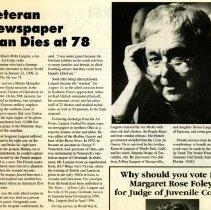 Image of Largent Obituary - 2012.22.8