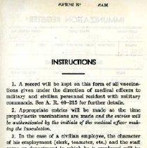Image of Immunization Record (back)