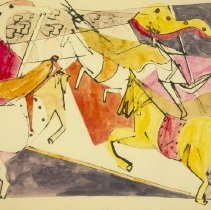 Image of Romare Bearden, Mad Carousel, 1948.1.01