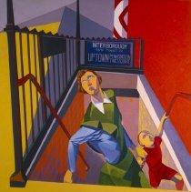 Image of Louis Guglielmi, Subway Exit, 1948.1.17