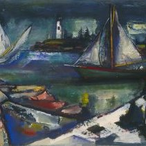 Image of Jean Liberté, Rock Forms and Boats, 1948.1.24