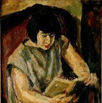 Image of Ben Shahn, Woman Reading, 1982.1.2