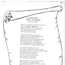 Image of Post Office Poem  1979