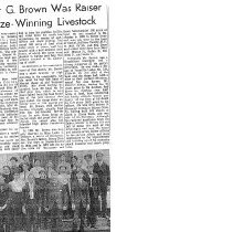 Image of Homer G. Brown Newspaper Article