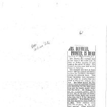 Image of Mrs. Duffield Obit