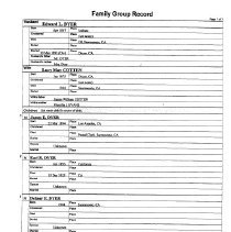 Image of Edward Dyer Family  Group Record