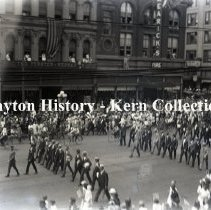 Image of K.1.1.139 - Glass - Plate Negative - Parades - Drafted Men's Parade Dayton, OH 1917