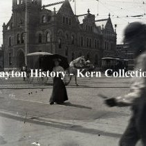 Image of K.1.2.032 - Glass - Plate Negative - Old Post Office, built in 1892, Dayton, OH 1895