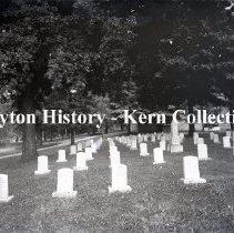 Image of K.3.6.006 - Glass-Plate Negative - Old Soldiers & Sailors Orphanage - Xenia, OH - cemetery - July 5, 1921