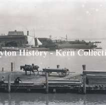 Image of K.4.3.045 - Glass-Plate Negative - Wharf - Alexandria, VA, 1895