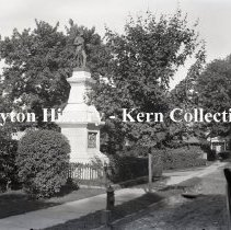Image of K.4.3.167 - Glass-Plate Negative - Paulding Monument - Tarrytown, NY (John Anderson marked on statue)