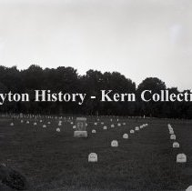 Image of K.4.3.435 - Glass-Plate Negative - Arlington National cemetery - Burial place for Maine dead