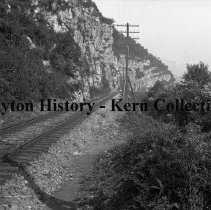 Image of K.5.6.061 - Glass - Plate negative - Lookout Mountain - railroad at the base