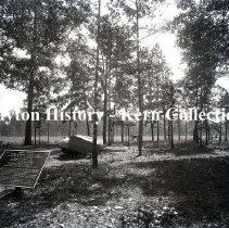 Image of K.5.9.1123 - Glass - Plate negative -N. E. corner of Poe field, Chickamauga GA