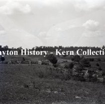 Image of K.5.9.951 - Glass - Plate negative - Perryville, KY - From hill on Springfield Pike north along Federal second position - 1900