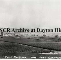 Image of NCR.1998.0303.129 - Glass Negative - WWI -  322 Field Artillery- When Camp Sherman, Ohio was part cornfield