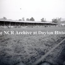 Image of NCR.1998.0550.010 - Glass Negative -Horsemen on the march-Buffallo Bill's Circus-Dayton Fairgrounds-August 29,1907