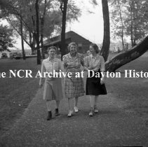 Image of NCR.1998.0603.799 - Old River - Memorial Day - Three Women On A Path, Dayton, OH May 30, 1941