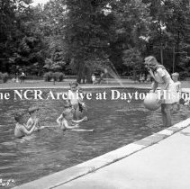 Image of Old River - Fourth Of July At Old River - Children On The Swingset, July 4,
