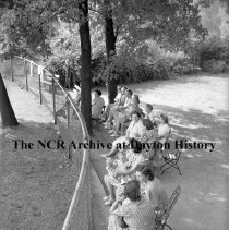 Image of NCR.1998.0604.287 - Old River - Swimming Classes & Red Cross Life Saving Class - Parents Watching The Classes, Dayton, OH  August 10, 1944