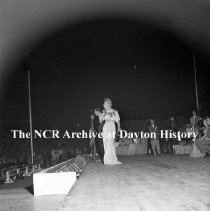 Image of NCR.1998.0604.438 - Old River - Misc. Photos From The Coca-Cola Spotlight Salute To NCR - Masters & Rollins - Comedy Eccentric Dance Team And Movie Stars On Stage, Dayton, OH  August 19, 1944