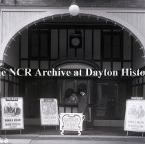 Image of NCR.1998.0769.097 - Glass Plate Negative  -  Theatre -- Wonderland Theatre, Chas B. Johnson, Prop. Washington, OH, Front   April 28, 1916