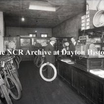 Image of NCR.1998.0773.030 - Glass Plate Negative - Bicycle - Hirsch Cycle Co. - Seattle, WA