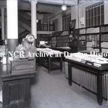 Image of NCR.1998.0775.008 - Glass Plate Negative --Department Store -- Bon Marche, Seattle, WA  Hosiery    April 18, 1918