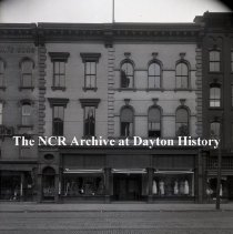 Image of NCR.1998.0775.022 - Glass Plate Negative - Department Store - Bush & Bull Store, Exterior, Williamsport, PA   June 4, 1920
