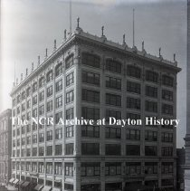 Image of NCR.1998.0775.029 - Glass Plate Negative - Department Store - Bloch Store - Exterior  - April 29, 1920