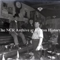 Image of NCR.1998.0775.033 - Glass Plate Negative - Boot Black Shop - J. Butch Boot Black - Lebanon, PA - 108 - March 1907