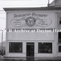 Image of NCR.1998.0775.066 - Glass Plate Negative - Dairy - Damascus Creamery, Exterior, Portland, OR