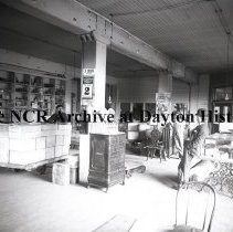 Image of NCR.1998.0775.068 - Glass Plate Negative - Dairy - Littleton Creamery, 18th & Wincoop Sts. Boston, MA  (calendar reads Wed. May 2)